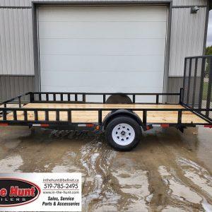 Left side of 2021 Trail King 82x14 ATV trailer