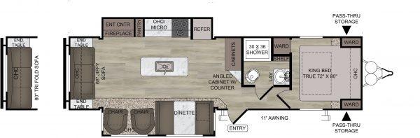 Floorplan for the 2021 Della Terra MK292