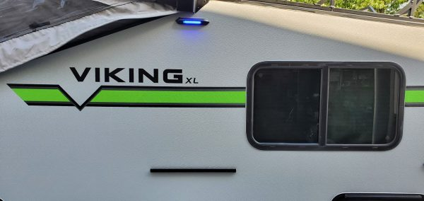 Blue LED lights on the 2021 Viking 12.0 TD XL with Off-road Package
