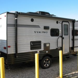 Exterior view of the 2021 Viking 17BHS Bunk House with Slide