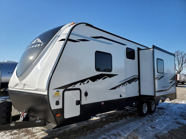 Exterior view of the 2021 Alta Travel Trailer 2100-MBH Bunk House