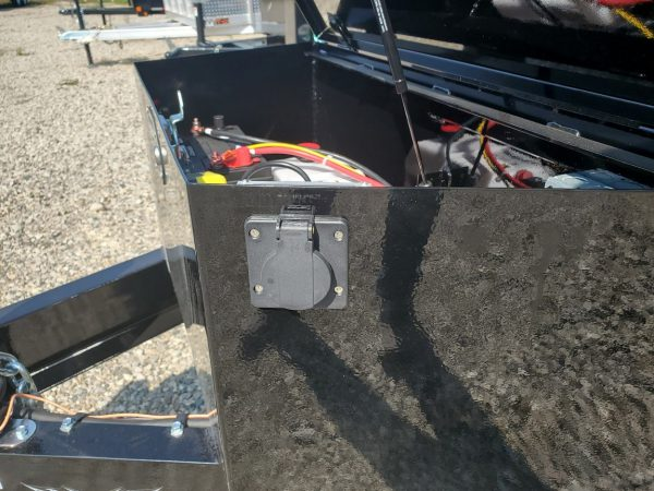 Battery box on the 2021 Force 6X10 5 Ton Dump Trailer