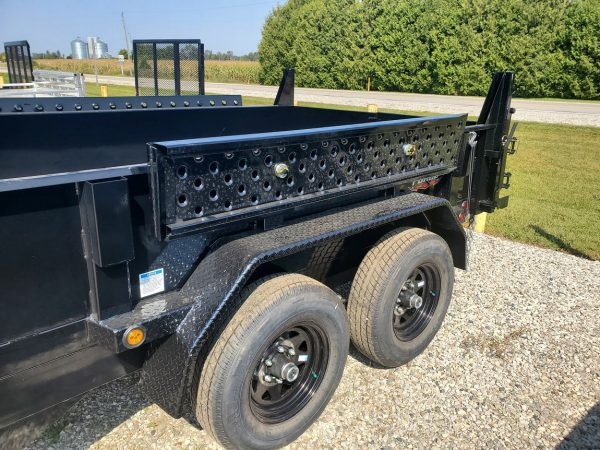 Side view of the 2021 Force 6X10 5 Ton Dump Trailer