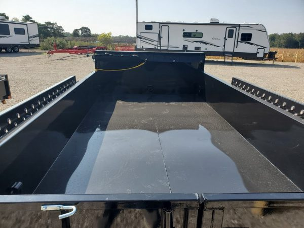 Interior deck view on the 2021 Force 6X10 5 Ton Dump Trailer
