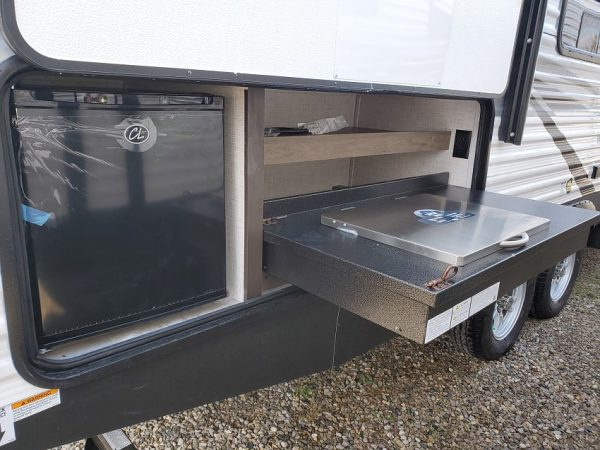 View of the external kitchen on the 2021 Della Terra 250BH - Bunk house with King Front Bed