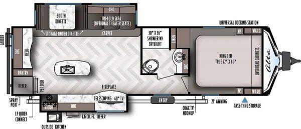 2021 Alta Travel Trailers 2810-KIK floor plan