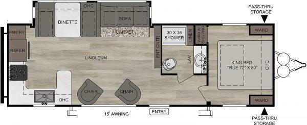 2021 Della Terra DET291RK floor plan