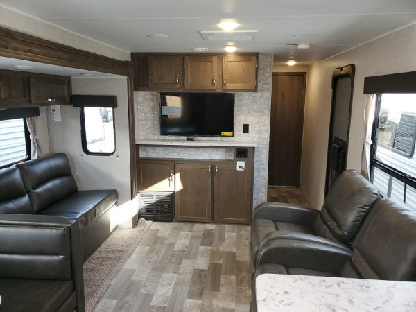 View of the spacious living space inside the 2021 Della Terra DET291RK