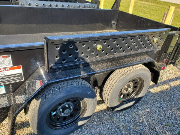 Side view of the 2021 Force 5X10 3.5 Ton Dump Trailer