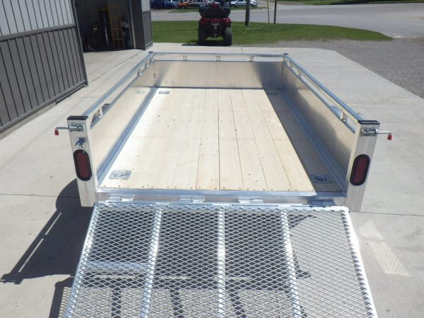 Deck of 2021 5x8 All Aluminum Landscape with ramp lowered