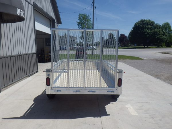 2021 5x8 All Aluminum Landscape with rear ramp up