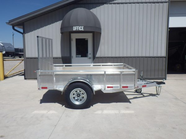 Side view of the 2021 5x8 All Aluminum Landscape