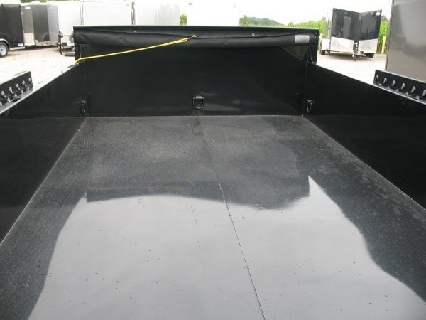 View of the box on the 2021 Force 80x12 12,000lbs GVWR Dump Trailer