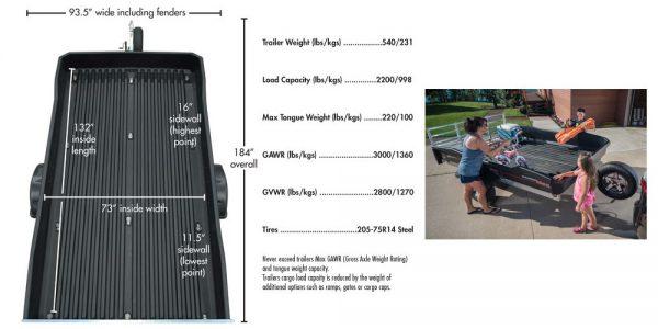 2021 Floe Cargo Max XRT 11-73 model information