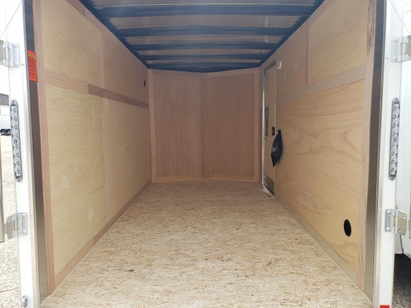 Interior of the 2022 In The Hunt Trailers 6X12 Enclosed with Rear Ramp