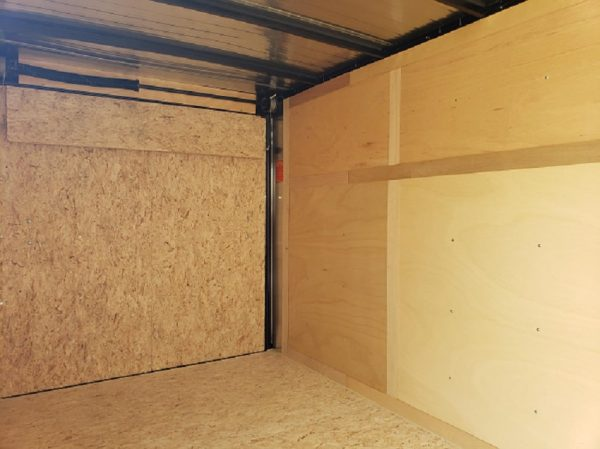 Inside view of the ramp in the 2022 In The Hunt Trailers 6X12 Enclosed with Rear Ramp