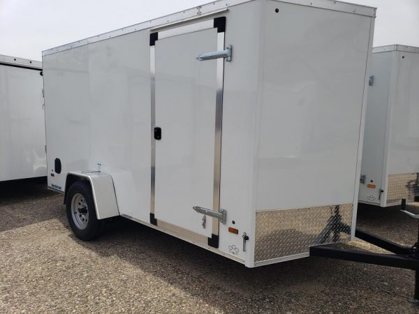 2022 In The Hunt Trailers 6X12 Enclosed with Rear Ramp in white